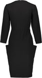BLK Tie Pocket Dress- Black