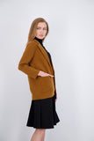 OVER SIZED KNIT BLAZER-CINNAMON