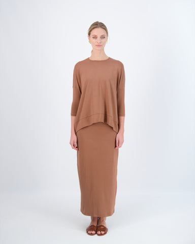LOOSE TEE-SUMMER BROWN