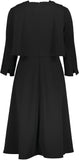 Blk Tie Cape Dress