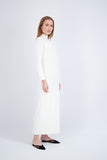 TURTLENECK SWEATER DRESS-WINTER WHITE