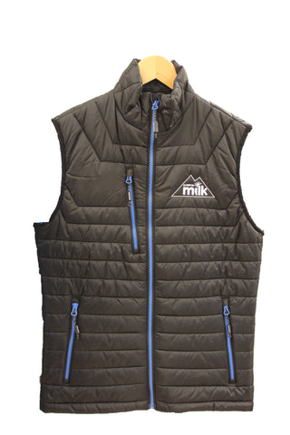 Men's Black Polyester Filled Vest