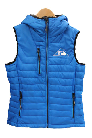 Women's Blue Polyester Filled Vest