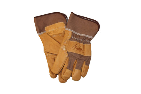 Leather Denim Work Gloves