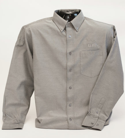 Mens grey button up dress shirt