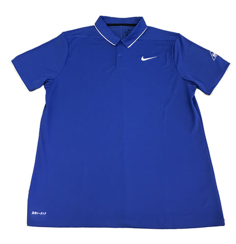 Men's Blue Nike Polo- Solid