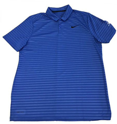 Men's Blue Nike Polo- Striped