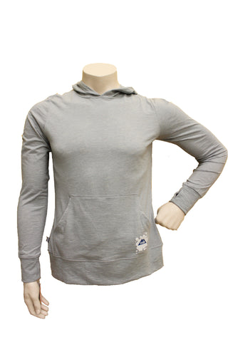Women's Light Grey Pullover Hooded Sweater