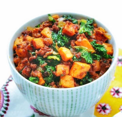 Chorizo Sweet Potato+Kale Ragout