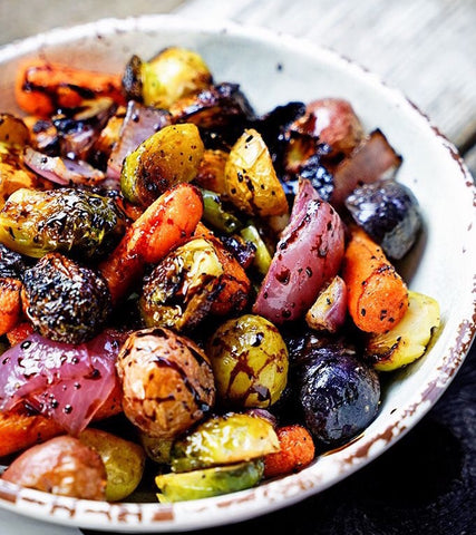 Balsamic Roasted Seasonal Vegetables