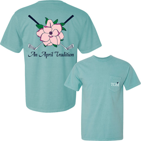 An April Tradition - Short Sleeve Pocket T-shirt - Chalky Mint