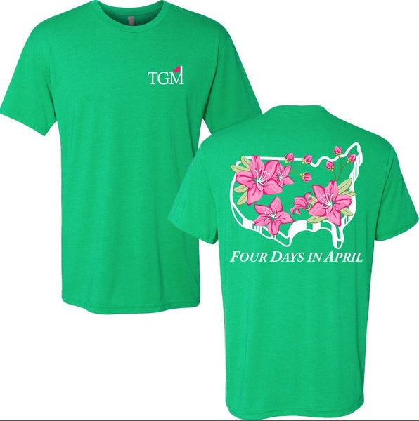Four Days in April - Envy Green Tri-Blend T-shirt