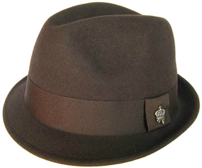 "Christys Crown ""Basix"" Wool Fedora Crease Top Hat"