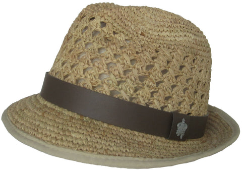 "Christys Crown ""Christian"" Crocheted Raffia Fedora"