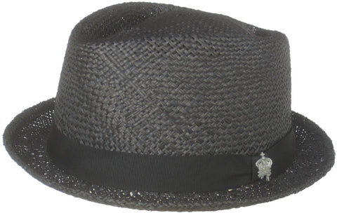 "Christys Crown ""Merenda"" Bao Straw Diamond Crown Fedora"