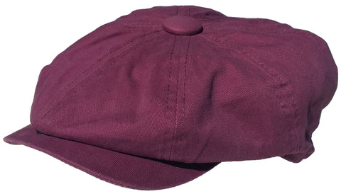 Broner 100% Cotton 8 Panel Newsboy Cap