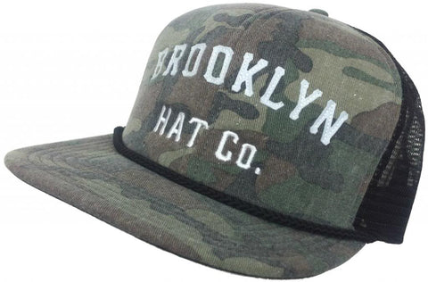 Brooklyn Hat Co Red Hook Trucker Cap Flat Brim Hat