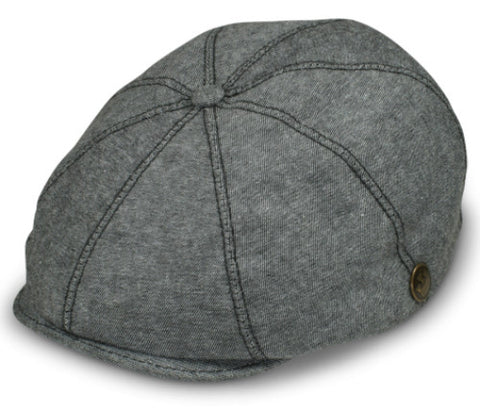 Goorin Bros Made in USA Gabe Chambray Newsboy Cap