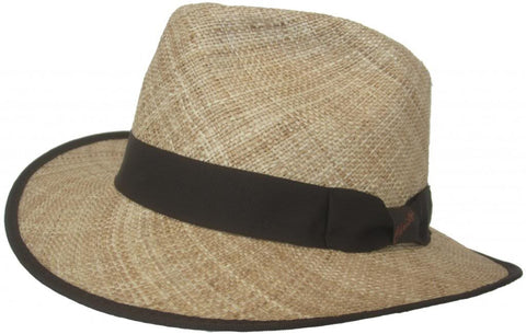 Christys Calvin Bao Straw Big Brim Safari Fedora
