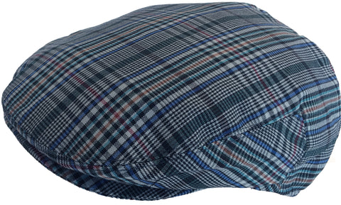 Summer Plaid Ivy Scally Newsboy Cap Polyester