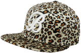 Brooklyn Hat Co Tito Velvet Leopard Flat Brim Cap B Hat