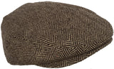 Wool Blend Herringbone Winter Ivy Newsboy Cap