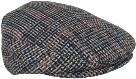 Plaid Wool Blend Ivy Scally Cap Houndstooth Driver Hat Newsboy