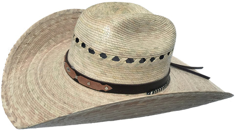 Mexican Moreno Palm Crease Crown Cowboy Hat Big Brim
