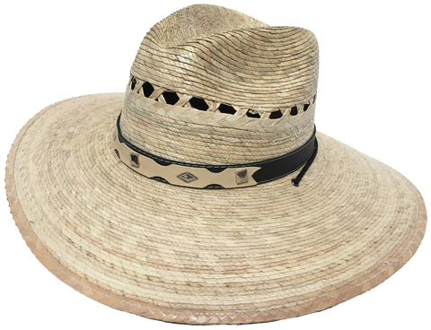 Mexican Moreno Palm Safari Hat Big Brim Fedora