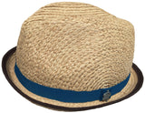 Christys Crown Raffia Snap Brim Fedora