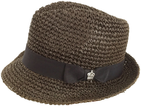 Vintage Christys Crown Crocheted Paper Straw Fedora
