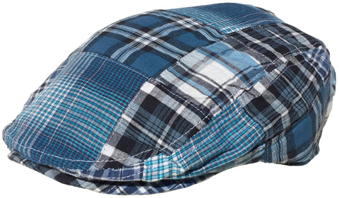 Broner Cotton Madras Plaid Ivy Scally Cap Driver Hat