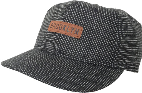 Brooklyn Hat Co Wood Tweed Cap 6 Panel Hat
