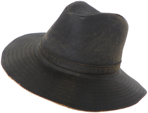 Brooklyn Hat Co Faux Leather Safari Hat