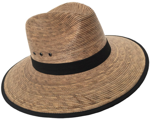 Headchange Mexican Moreno Palm Straw Safari Fedora Sun Hat