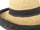 Headchange Womens Rolled Kettle Brim Crochet Raffia Straw Sun Hat