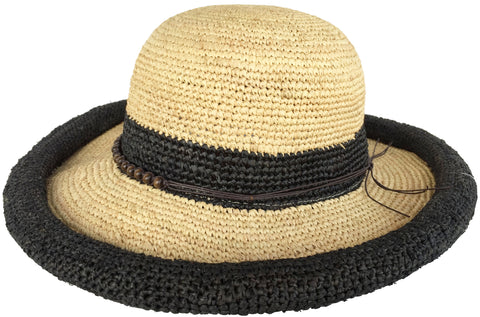 4231ec6b5fb75 Headchange Womens Rolled Kettle Brim Crochet Raffia Straw Sun Hat –  headchange.com