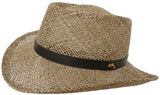 Broner Twisted Seagrass Straw Gambler Hat