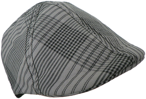 Dickies Plaid Reversible 6 Panel Cap 100% Cotton Duckbill Scally Pub Hat Newsboy