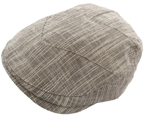 Broner Chevron Cut Ivy Scally Cap Cotton Linen Blend Newsboy Drivers Hat