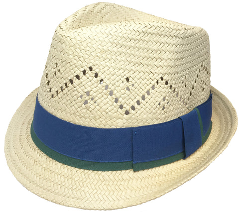Headchange Toyo Straw Fedora Vented Crown Trilby