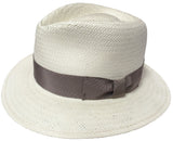 Made in USA Straw Panama Style Fedora Safari