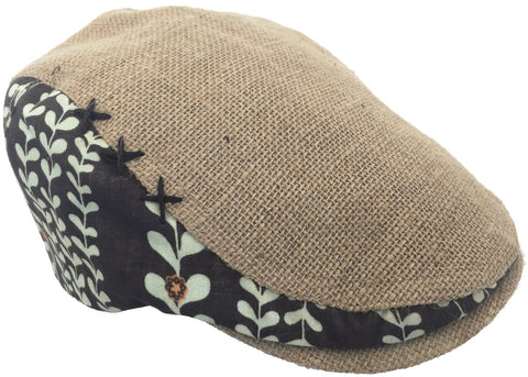 "Vintage Christys' Crown Series ""Cane"" Burlap Newsboy Cap"