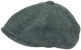 Who Ced Linen 8 Panel Newsboy Cap
