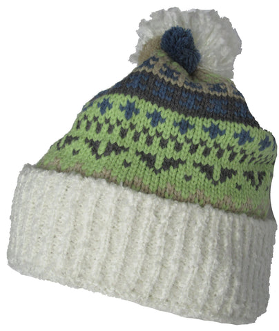 Christys' Crown Knit Winter Cap Ski Hat Pom Top