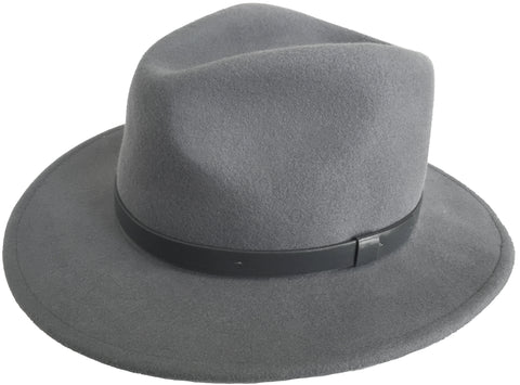 Brooklyn Hat Co Wide Brim Fedora Wool Felt Safari Style Hat