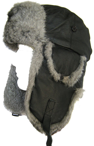 Klondike Sterling Leather Aviator Ushanka Hat