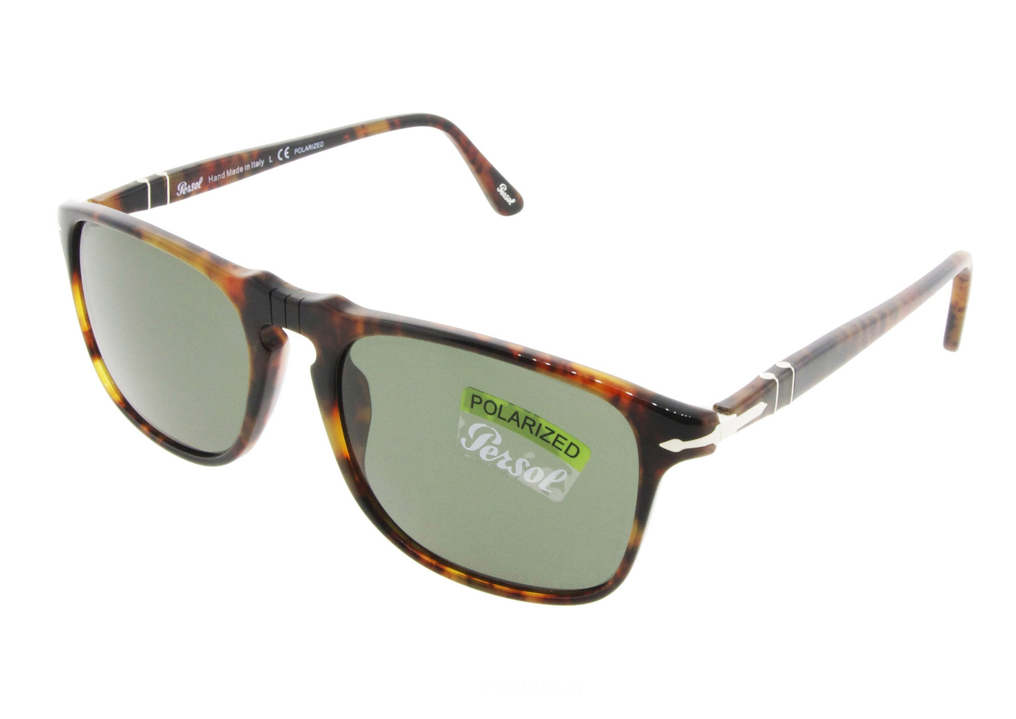 d51abe05899 ... Persol Sunglasses 3059S 108 58 Caffe with Polarized Green Lenses Size  54 ...