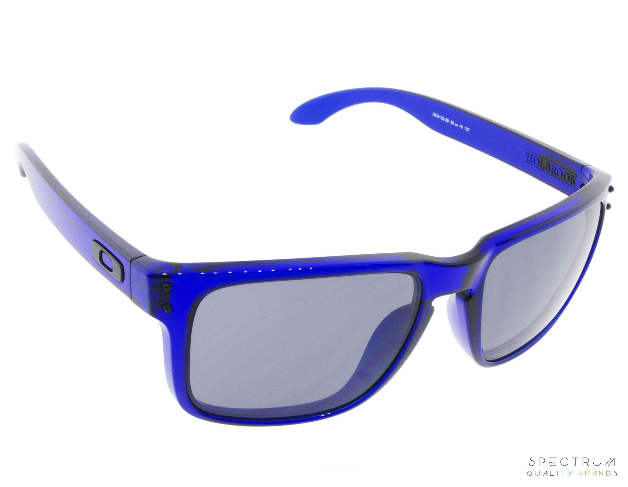 bdc2acf8b02 Oakley Sunglasses Holbrook OO9102 - 29 Crystal Blue Frames with Grey L -  Spectrum Eyewear
