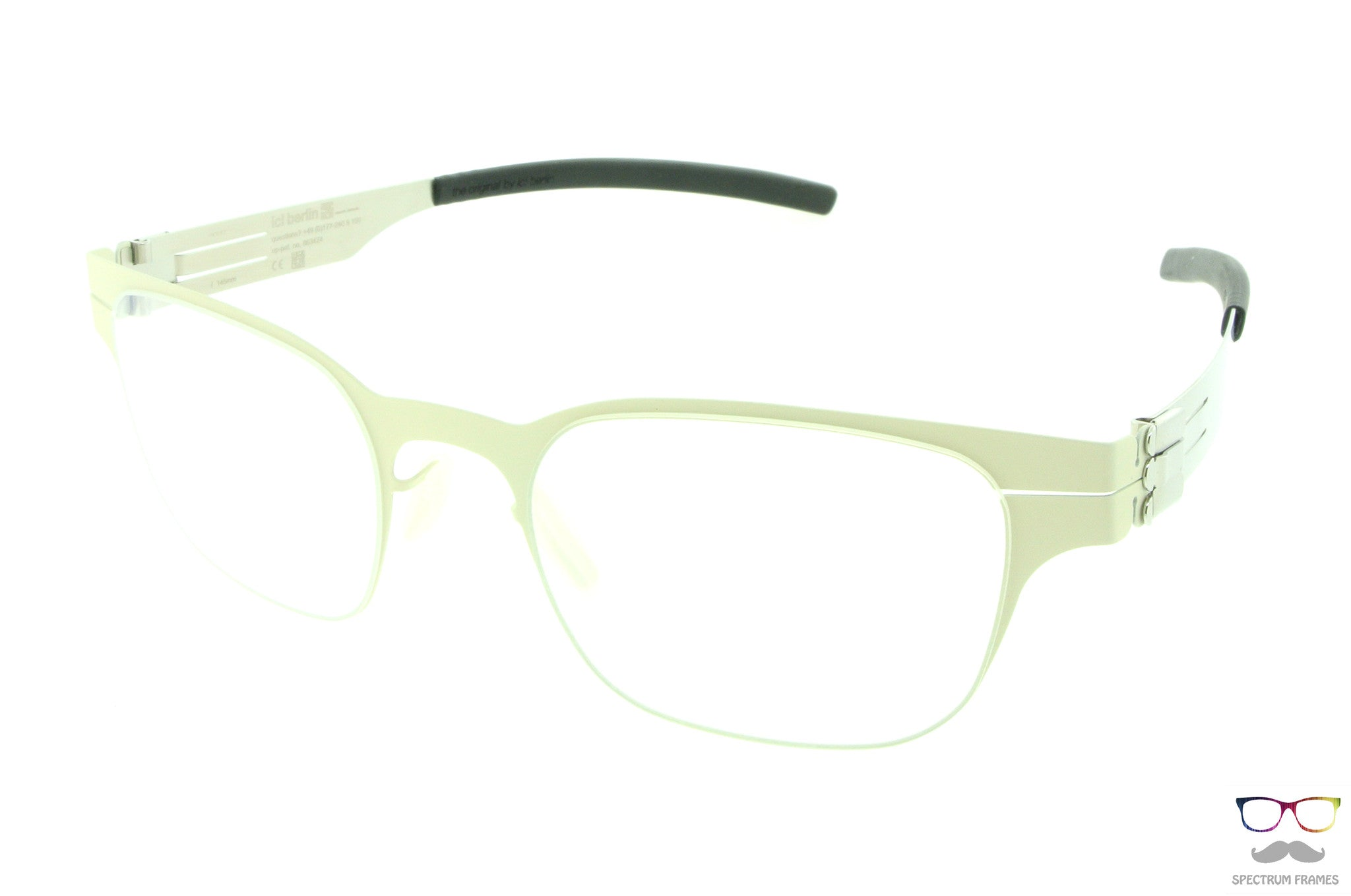 ic! berlin Eyeglasses Volker B. Off-White / Pearl - Spectrum Eyewear